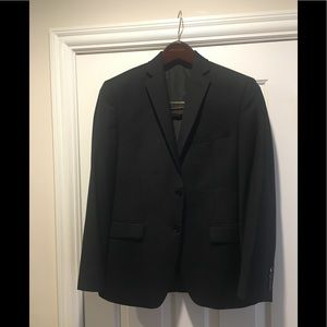 Calvin Klein Men's/Teen SlimFit Black Wool Blazer
